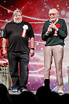 (L to R) Apple co-founder Steve Wozniak and comic book writer Stan Lee, speak during the opening ceremony for the Tokyo Comic Con 2017 at Makuhari Messe International Exhibition Hall on December 1, 2017, Tokyo, Japan. This is the second year that San Diego Comic-Con International held the event in Japan. Tokyo Comic Con runs from December 1 to 3. (Photo by Rodrigo Reyes Marin/AFLO)