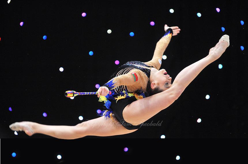 "February 9, 2014 - Tartu, Estonia - KATSIARYNA HALKINA of Belarus performs at ""Miss Valentine 2014"" international tournament."