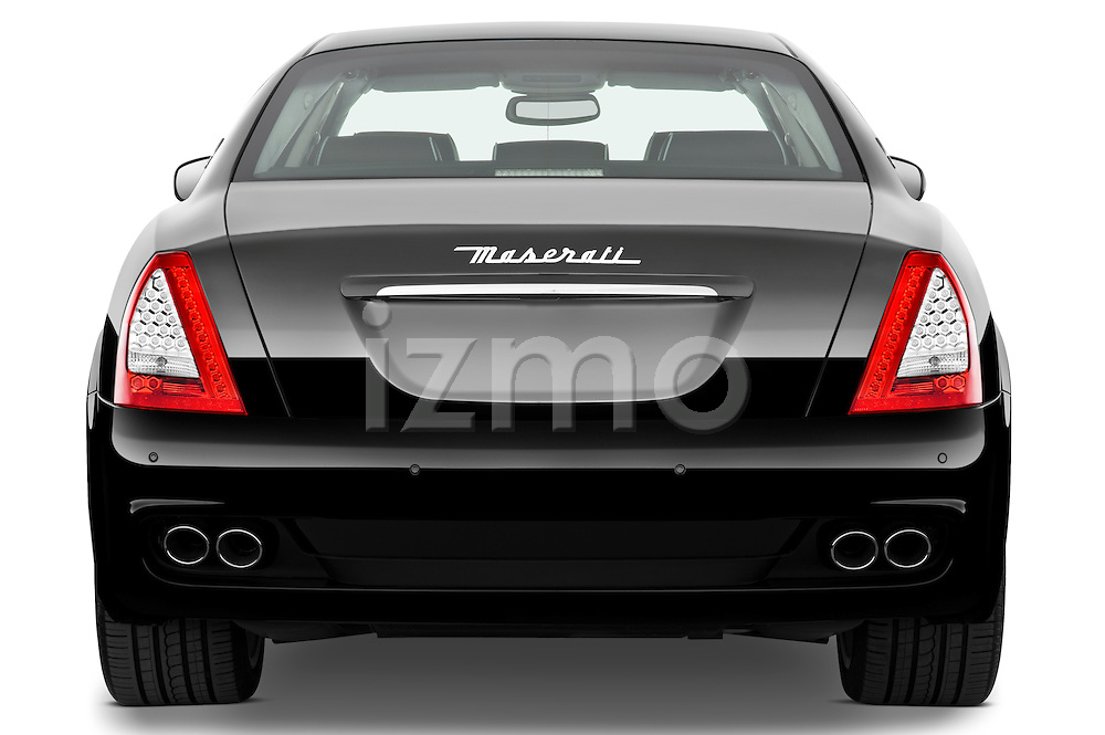 Straight rear view of a 2009 Maserati Quattroporte S Sedan