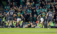 Saturday 11th November 2017; Ireland vs South Africa<br /> Jacob Stocklade scores during the Guinness Autumn Series between Ireland and South Africa at the Aviva Stadium, Lansdowne Road, Dublin, Ireland.  Photo by DICKSONDIGITAL