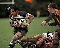 Ories centre Ma'a Nonu heads for the tryline. Wellington Club Rugby - Jubilee Cup, Upper Hutt v Oriental-Rongota at Maidstone Park, Upper Hutt, Wellington, Saturday, 26 June 2010. Photo: Dave Lintott/lintottphoto.co.nz