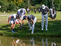 Searching ball during the third round of the 76 Open D'Italia, Olgiata Golf Club, Rome, Rome, Italy. 12/10/19.<br /> Picture Stefano Di Maria / Golffile.ie<br /> <br /> All photo usage must carry mandatory copyright credit (© Golffile | Stefano Di Maria)