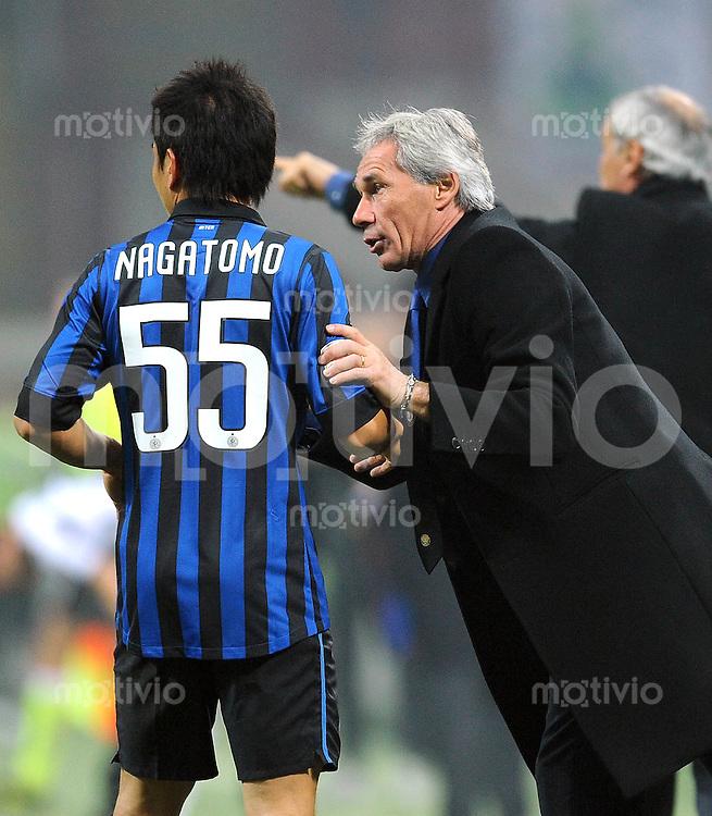 FUSSBALL INTERNATIONAL   SERIE A   SAISON 2011/2012    Inter Mailand - Udinese Calcio   03.12.2011 Yuto Nagatomo, Trainer Claudio Ranieri (v. li., Inter Mailand)