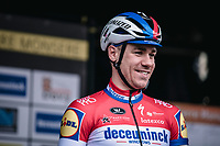 later race winner Fabio Jakobsen (NED/Deceuninck Quick Step) at the pre race team presentation<br /> <br /> GP Monseré 2020<br /> One Day Race: Hooglede – Roeselare 196.8km. (UCI 1.1)<br /> Bingoal Cycling Cup 2020
