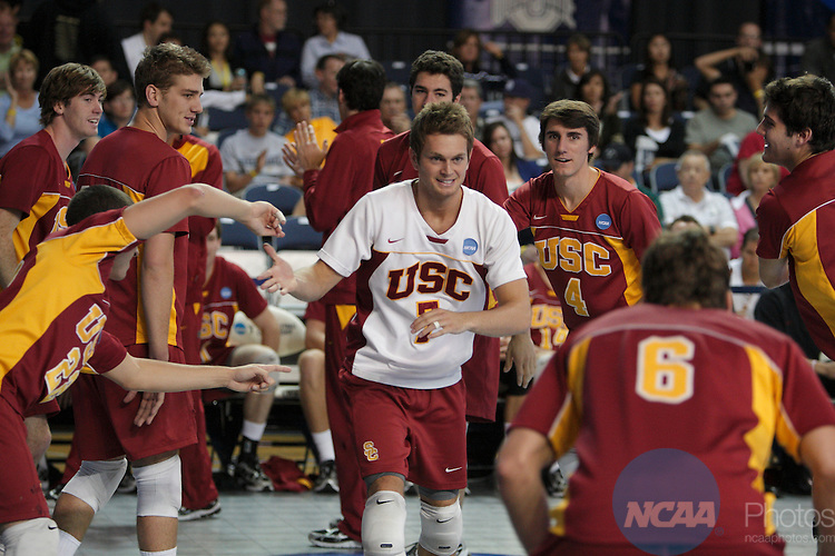 09 MAY 2009: The University of California, Irvine competes against the University of Southern California during the Division I Men's Volleyball Championship held at the Smith Fieldhouse on the campus of Brigham Young University in Provo, UT.  UCI defeated USC 3-2 to win the national title.  Jaren Wilkey/NCAA Photos.