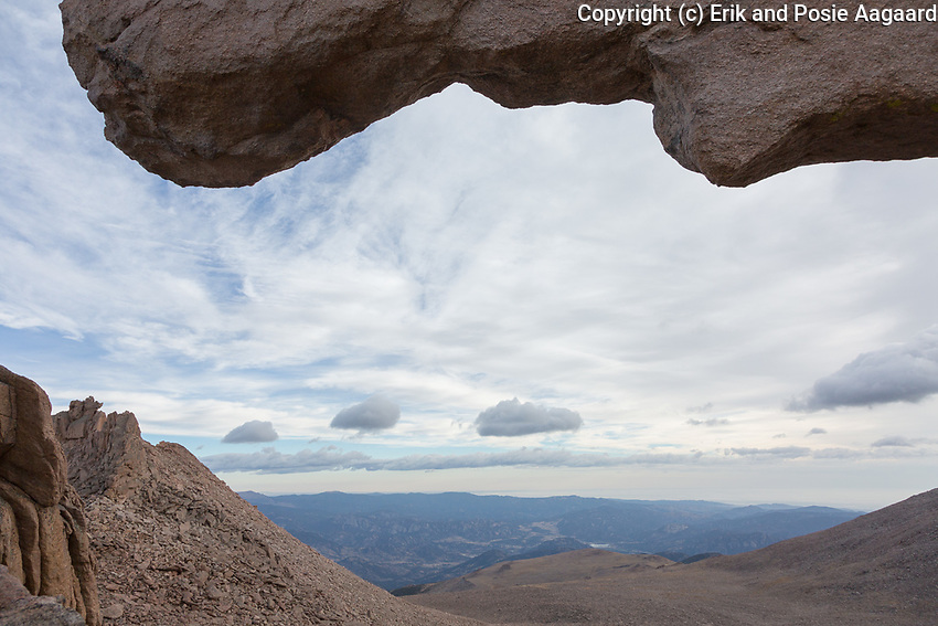 View from the Keyhole, overlooking the Boulderfield, Longs Peak, Rocky Mountain National Park