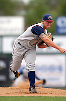 Hudson Valley Renegades RHP JACOB THOMPSON during a game vs. the Lowell Spinners at LeLacheur Park in Lowell,Massachusetts on August 22, 2010.   .  Photo By Ken Babbitt/Four Seam Images