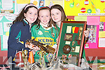 "SPORTS STAR: Keelyn O'Brien, Ciara Kennedy and Sorcha Lyn, members of Annascaul Community Games at the Kerry Community Games Project Final on Friday with their entry ""All around Star Geraldine O'Shea"" at the KDYS, Denny Street, Tralee.."