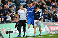 Ben Nugent of Gillingham leaves the field in the first half after suffering an injury during Gillingham vs Portsmouth, Sky Bet EFL League 1 Football at the MEMS Priestfield Stadium on 8th October 2017