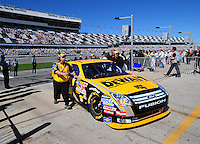 Feb 10, 2008; Daytona Beach, FL, USA; The car of Nascar Sprint Cup Series driver Matt Kenseth (17) is pushed to the garage after qualifying for the Daytona 500 at Daytona International Speedway. Mandatory Credit: Mark J. Rebilas-US PRESSWIRE