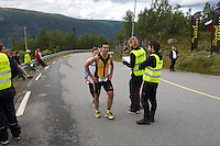 Race number 166 - Grégoire Geffray - - Norseman 2012 - Photo by Justin Mckie Justinmckie@hotmail.com