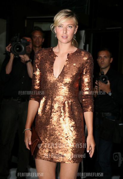 Maria Sharapova arriving for the Pre-Wimbledon Party, Kensington Roof Gardens, London. 17/06/2010  Picture by: Alexandra Glen / Featureflash
