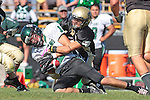 Palos Verdes, CA 10/08/10 - Walter Woo (Peninsula #2) and Drew Lawrence (South #12) in action during the South Torrance Spartans vs Peninsula Panthers Varsity football game at Palos Verdes Peninsula High School.