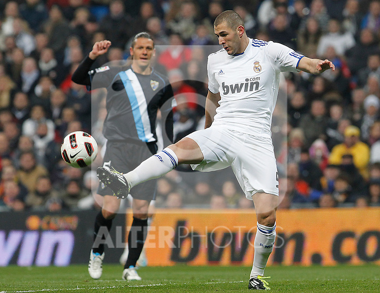 Real Madrid's Karim Benzema during La Liga match.March 3,2011. (ALTERPHOTOS/Acero)