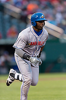 Amarillo Sod Poodles left fielder Jorge Ona (31) hustles down the first base line during a Texas League game against the Springfield Cardinals on April 25, 2019 at Hammons Field in Springfield, Missouri. Springfield defeated Amarillo 8-0. (Zachary Lucy/Four Seam Images)