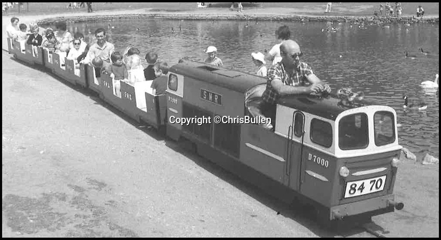 BNPS.co.uk (01202 558833)<br /> Pic: ChrisBullen/BNPS<br /> <br /> Poole Park Railway in 1976.<br /> <br /> A popular miniature railway has ground to a halt after its train staff went on strike.<br /> <br /> More than 40 volunteers at the much-loved tourist attraction are said to have launched the unlikely industrial action following a series of disputes with the new management.<br /> <br /> The railway in Poole Park, Dorset, has been closed for several weeks and is losing thousands of pounds in lost income.<br /> <br /> The volunteers, mostly retirees who act as train drivers, guards, engineers and ticket office clerks, walked out on April 25.