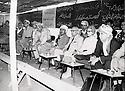 Iraq 1970 . Nawpurdan: 8th  congress of KDP,  left to right, Nouri Shawess, Mustafa Barzani, Kamuran Bedir Khan and his wife Natacha and Ali Abdullah .<br /> Irak 1970 .A Nawpurdan, celebration du 8eme congres du KDP avec de gauche a droite, Nouri Shawess, Mustafa Barzani, Kamuran Bedir Khan et sa femme Natacha et Ali Abdalla