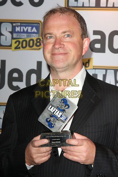 HARRY ENFIELD .Loaded Laftas Comedy Awards held at the Cuckoo Club, London, England, October 2nd 2008..half length black suit jacket award trophy .CAP/ROS.©Steve Ross/Capital Pictures