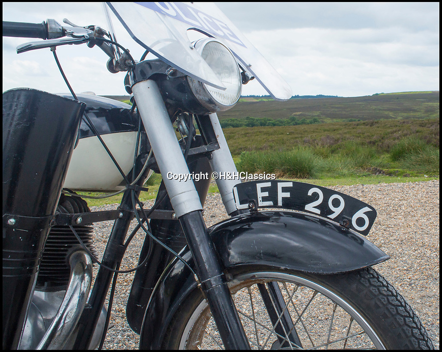 BNPS.co.uk (01202 558833)Pic: H&HClassics/BNPS<br /> <br /> The vintage motorcycle ridden by actor Nick Berry in TV police drama Heartbeat has emerged for sale.<br /> <br /> The 1961 Francis Barnett Falcon 198 was one of five bikes used during the nostalgic ITV series that ran from 1992 to 2010.<br /> <br /> The 200cc machine was recently discovered in a stable on a farm as part of a wider collection of old bikes.<br /> <br /> It still has the 1960s' police livery as well as a old-fashioned radio on the back.<br />  <br /> It is being sold with its original paperwork and a police uniform worn by Nick Berry who played PC Nick Rowan in Heartbeat which was set in a North Yorkshire village.