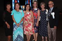 NWA Democrat-Gazette/CARIN SCHOPPMEYER Paula Irwin (from left), Karen Compton, Rosy Ochoa, Karen Shank and Susan Gene Anderson enjoy Spark of Hope.