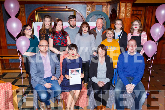 Family and friends of Chloe who held a quiz night for her fundraising campaign in the Killarney Avenue Hotel on Friday nightfront row l-r: Paddy and Helen Kelly, Christina O'Connor, Billy O'Shea. back row: Meadbh McSweeney, Rachel O'Connor, Lorna O'Shea,  brendan Reidy, Angela Reidy, John O'Connor, Allyn, Ciara and Helen O'Shea