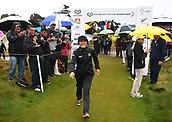 1st October 2017, Windross Farm, Auckland, New Zealand; LPGA McKayson NZ Womens Open, final round;  New Zealand's Lydia Ko arrives on the 1st tee