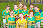 Moyvane NS footballers who competed in the Cumann na mBunscoil County mini-sevens finals in Fitzgerald Stadium, Killarney on Friday front row: Laura Stack, Brid Stack, Patrice Galvin. Back row: Eimear Shine, Ciara Hudson, Moira O'Flaherty, Aoife Bowler, Josephine Hughes and Claire Galvin....