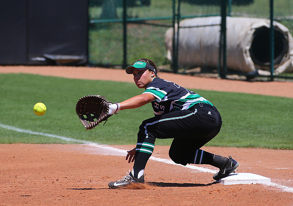 DENTON, TX - APRIL 09: Mean Green Softball v Southern Mississippi at Lovelace Field on April 9, 2017 in Denton, Texas. (Photo by Rick Yeatts)