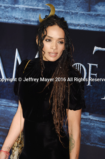 HOLLYWOOD, CA - APRIL 10: Actress Lisa Bonet arrives at the premiere of HBO's 'Game of Thrones' Season 6 at the TCL Chinese Theatre on April 10, 2016 in Hollywood, California.