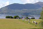 Tourists walking at Aghadoe, Killarney..Picture by Don MacMonagle