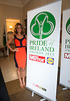 02/04/2015<br /> Amanda Byram host of Pride of Ireland Awards<br />  during the Pride of Ireland judging day in the Mansion House, Dublin.<br /> Photo:  Gareth Chaney Collins