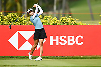 SINGAPORE - MARCH 02: Lydia Ko of New Zealand on the 3rd tee during the third round of the HSBC Women's World Championship 2019 at Sentosa Golf Club - Tanjong Course, Singapore on March 02, 2019.<br /> .<br /> .<br /> .<br /> (Photo by: Naratip Golf Srisupab/SEALs Sports Images)<br /> .<br /> Any image use must include a mandatory credit line adjacent to the content which should read: Naratip Golf Srisupab/SEALs Sports Images