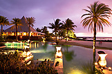 MAURITIUS, Chemin Grenier, South Coast, sunset at hotel Shanti Maurice which is located on the Indian Ocean