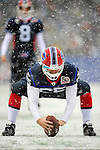 3 January 2010: Buffalo Bills' center Garrison Sanborn practices a snap on the sidelines during a game against the Indianapolis Colts on a cold, snowy, final game of the season at Ralph Wilson Stadium in Orchard Park, New York. The Bills defeated the Colts 30-7. Mandatory Credit: Ed Wolfstein Photo