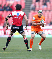 Guido Petti of the Jaguares during the Super Rugby quarter-final match between the Emirates Lions and the Jaguares at the Emirates Airlines Park Stadium,Johannesburg, South Africa on Saturday, 21 July 2018. Photo: Steve Haag / stevehaagsports.com