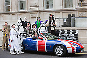 London, UK. 8 December 2016. Actor Philip Glenister with characters from the movies and Pearly Kings and Queens. Launch event of the 2017 London's New Year's Day Parade at the Corinthia Hotel. The parade is themed 'Lights, Camera, Actions and will feature characters from the movies.