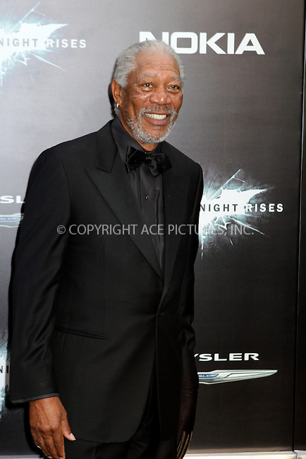 WWW.ACEPIXS.COM . . . . .  ....July 16 2012, New York City....Morgan Freeman at 'The Dark Knight Rises' premiere at AMC Lincoln Square Theater on July 16, 2012 in New York City.....Please byline: NANCY RIVERA- ACEPIXS.COM.... *** ***..Ace Pictures, Inc:  ..Tel: 646 769 0430..e-mail: info@acepixs.com..web: http://www.acepixs.com