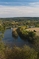 Europe/France/Aquitaine/24/Dordogne/Trémolat:  Cingle de Trémolat; depuis le ingle, belvédère naturel,  panorama sur la vallée de la dordogne