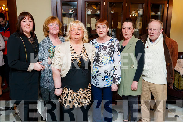 Bridget Flynn and Hannah Donovan, Castleisland, twin sisters who celebrated their birthday with family and friends, in the Imperial Hotel, Tralee, on Saturday night last with family and friends were l-r: Martina Murphy, Eileen O'Connor Bridget Flynn, Hannah Donovan, Margaret Donovan and Peter McSweeney.