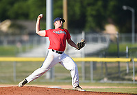 PT Black Brayden Webb (15) throws a pitch, Thursday, June 25, 2020 during a baseball game at the Randall Tyson Recreational Complex in Springdale. Check out nwaonline.com/200626Daily/ for today's photo gallery. <br /> (NWA Democrat-Gazette/Charlie Kaijo)