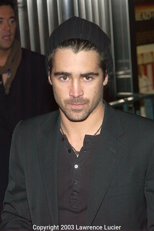 Colin Farrell. Jacket by Dolce & Gabana. Hat by Armani.