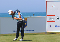 Haydn Porteous (RSA) on the 8th tee during Round 1 of the Rocco Forte Sicilian Open 2018 on Thursday 5th May 2018.<br /> Picture:  Thos Caffrey / www.golffile.ie<br /> <br /> All photo usage must carry mandatory copyright credit (&copy; Golffile | Thos Caffrey)
