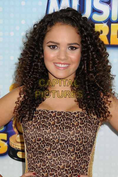 Madison Pettis.At the Radio Disney Music Awards 2013 held at Nokia Theatre LA Live, Los Angeles, California, USA, .27th April 2013..portrait headshot smiling animal leopard print brown  .CAP/ADM/BP.©Byron Purvis/AdMedia/Capital Pictures