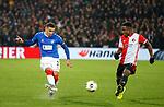 28.11.2019: Feyenoord v Rangers: James Tavernier and Leroy Fer