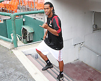 Ronaldinho of AC Milan during a practice session at RFK practice facility in Washington DC on May 24 2010.