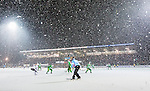 Stockholm 2015-01-30 Bandy Elitserien Hammarby IF - Sandvikens AIK :  <br /> Vy &ouml;ver Zinkensdamms IP med publik p&aring; huvudl&auml;ktaren i sn&ouml;fallet under matchen mellan Hammarby IF och Sandvikens AIK <br /> (Foto: Kenta J&ouml;nsson) Nyckelord:  Elitserien Bandy Zinkensdamms IP Zinkensdamm Zinken Hammarby Bajen HIF Sandviken SAIK supporter fans publik supporters utomhus exteri&ouml;r exterior sn&ouml; sn&ouml;fall sn&ouml;v&auml;der sn&ouml; vinter