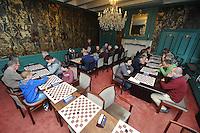 DAMMEN: FRANEKER: 28-03-2015, World Championship Frisian Draughts, Eerste officiële toernooi FRYSK, ©foto Martin de Jong