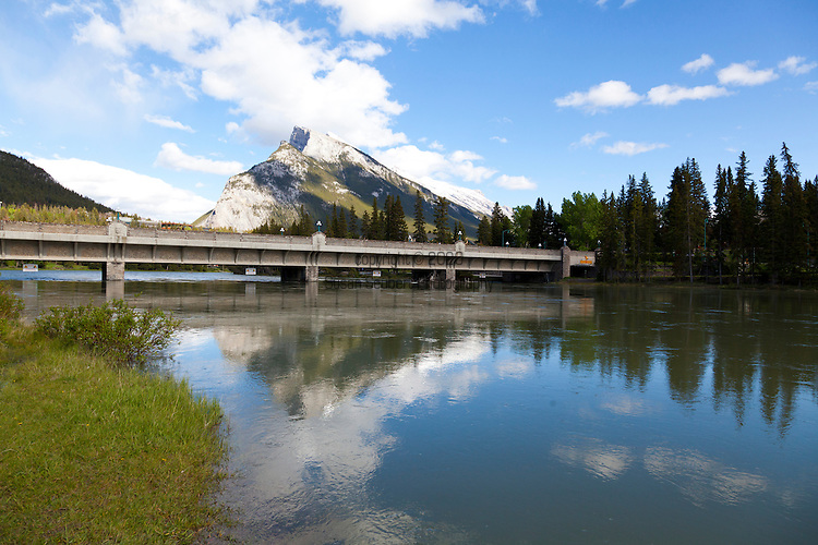 The downtown area of Banff, Alberta, Canada