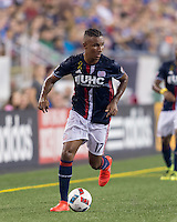 Foxborough, Massachusetts - September 10, 2016: The New England Revolution (blue and white) beat New York City FC (lt. blue) 3-1 in a Major League Soccer (MLS) match at Gillette Stadium.
