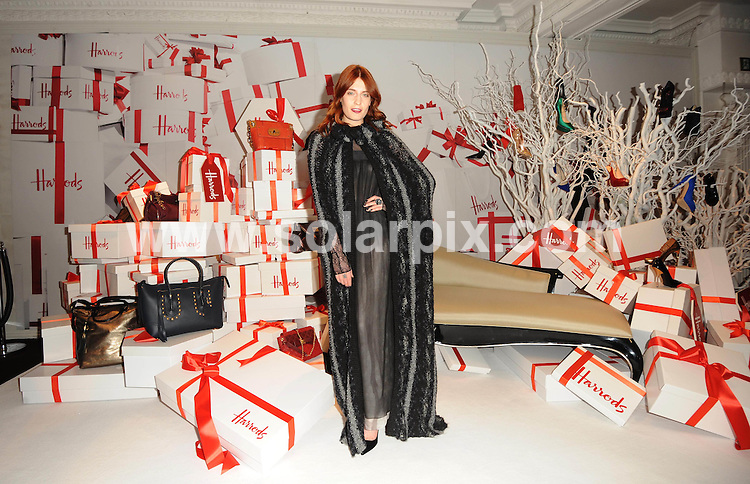 **ALL ROUND PICTURES FROM SOLARPIX.COM**                                             **WORLDWIDE SYNDICATION RIGHTS**                                                                                  Caption: Florence Welch arrives to open the Christmas Sale at Harrods in London                                                                              This pic:                                                                                              JOB REF: 14323       LNJ       DATE: 27.12.2011                                                           **MUST CREDIT SOLARPIX.COM OR DOUBLE FEE WILL BE CHARGED**                                                                      **MUST AGREE FEE BEFORE ONLINE USAGE**                               **CALL US ON: +34 952 811 768 or LOW RATE FROM UK 0844 617 7637**